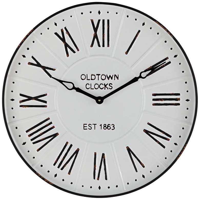 "Roman Numeral 23 1/2"" Wide Wall Clock"