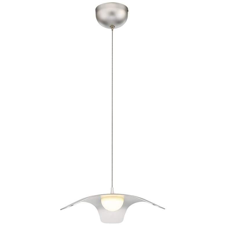 """Eurofase Randora 13 1/4"""" Wide Silver LED Pendant Light"""