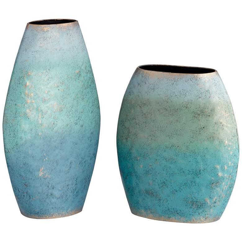 Lassen Three-Tone Blue Vases Set of 2