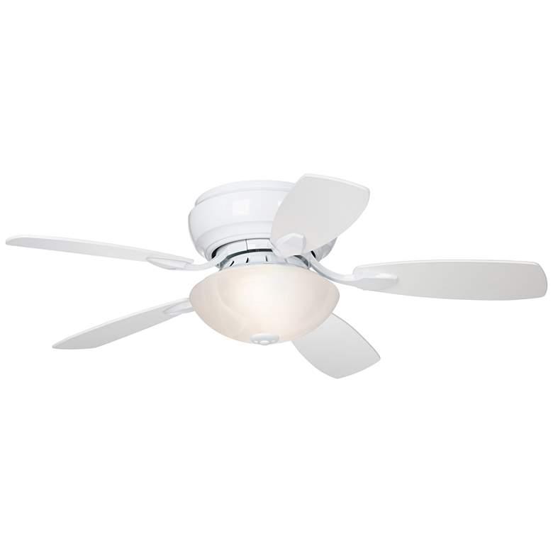 "44"" Casa Habitat™ White Finish LED Hugger Ceiling Fan"