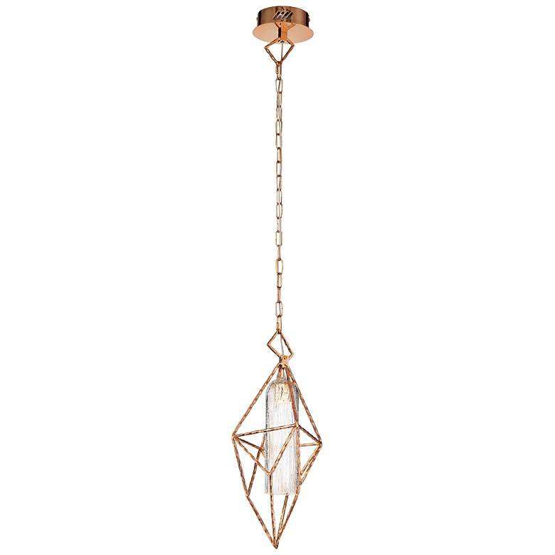 "Eurofase Verdino Asymmetric 9"" Wide Gold LED Mini Pendant"