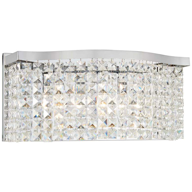 """Concentus 17"""" Wide Chrome and Crystal Bath Light"""