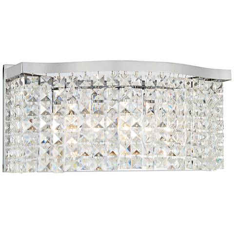 "Concentus 17"" Wide Chrome and Crystal Bath Light"