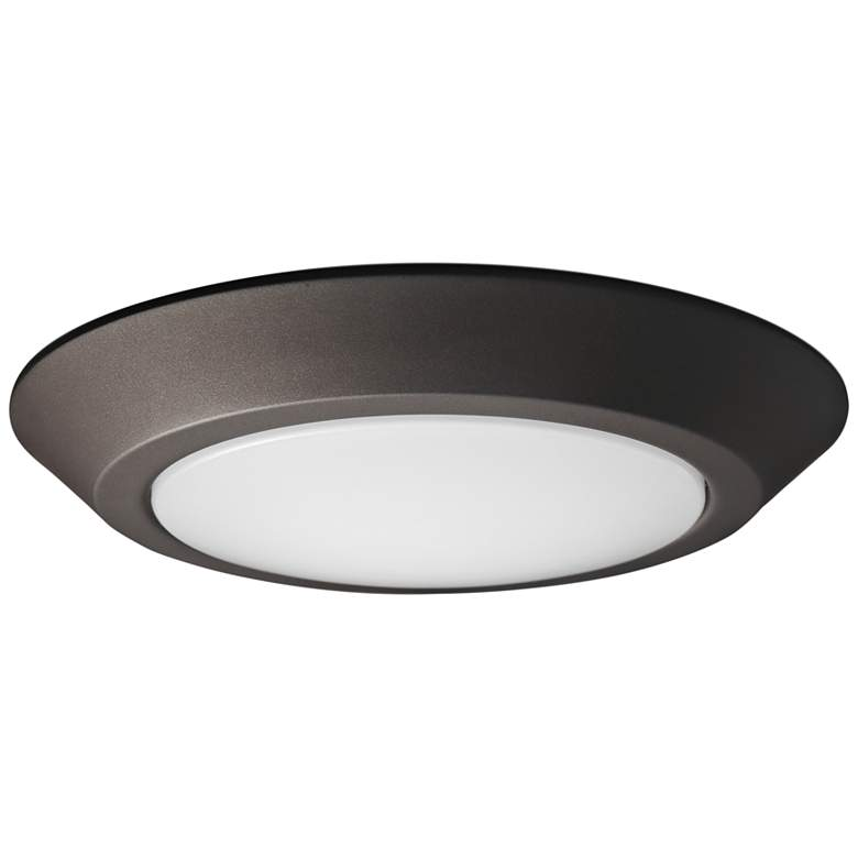 """Satco Nuvo Lighting 7 1/4"""" Wide Bronze LED Ceiling Light"""