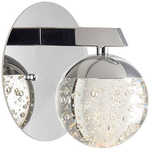 """ET2 Orb II 6"""" High Polished Chrome LED Wall Sconce"""