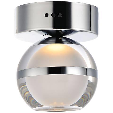 "ET2 Swank 4 3/4"" Wide Polished Chrome LED Ceiling Light"