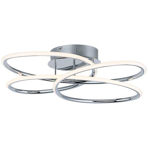 "ET2 Coaster 20 1/4"" Wide Polished Chrome LED Ceiling Light"