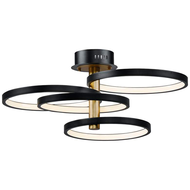 "Hoopla 33 1/2"" Wide 4-Level Modern LED Ceiling Light by ET2"