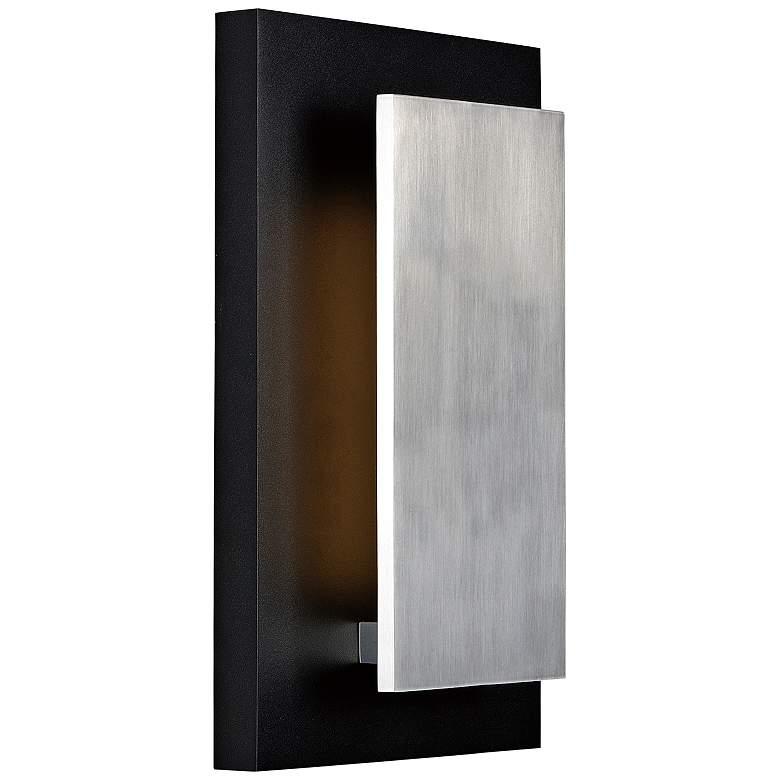 "Alumilux 14""H Black w/ Satin Aluminum LED Outdoor Wall Light"