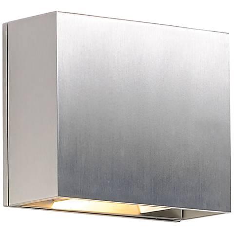 "ET2 Alumilux 6"" High Satin Aluminum LED Outdoor Wall Light"