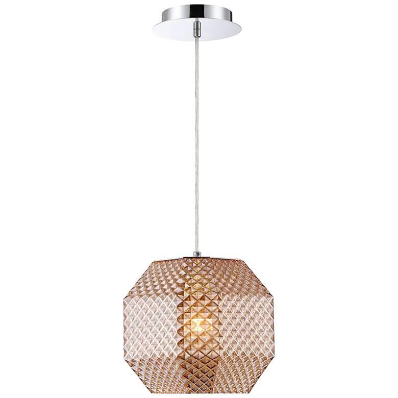 "Eurofase Catalda 9"" Wide Amber Glass Mini Pendant"