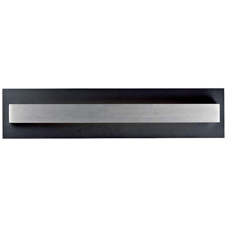 """Alumilux 24""""H Black w/ Satin Aluminum LED Outdoor"""