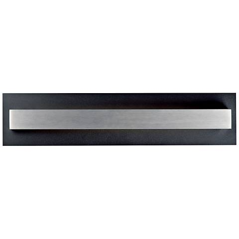 "Alumilux 24""H Black w/ Satin Aluminum LED Outdoor Wall Light"