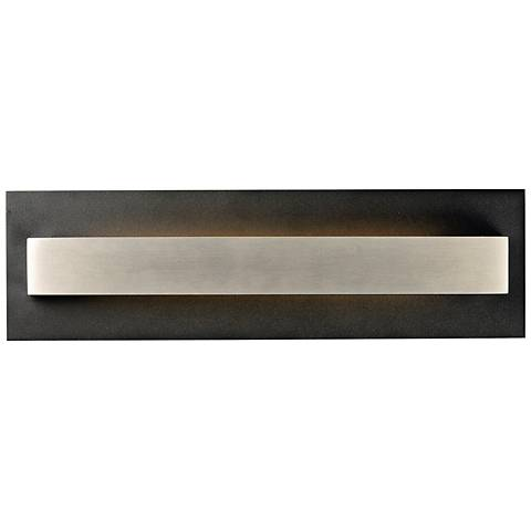 "Alumilux 18""H Black w/ Satin Aluminum LED Outdoor Wall Light"