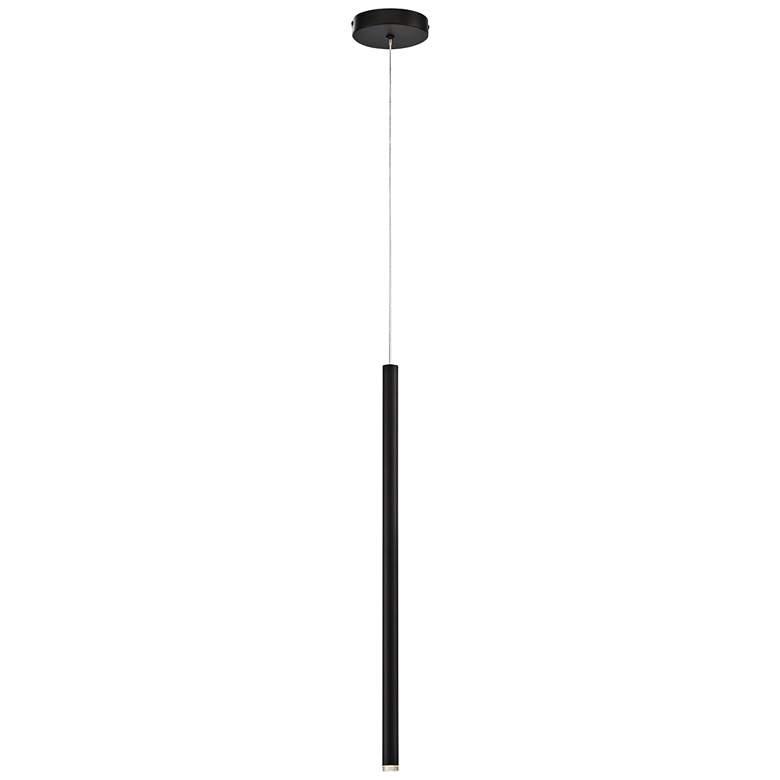 "Eurofase Navada 1"" Wide Black LED Mini Pendant"