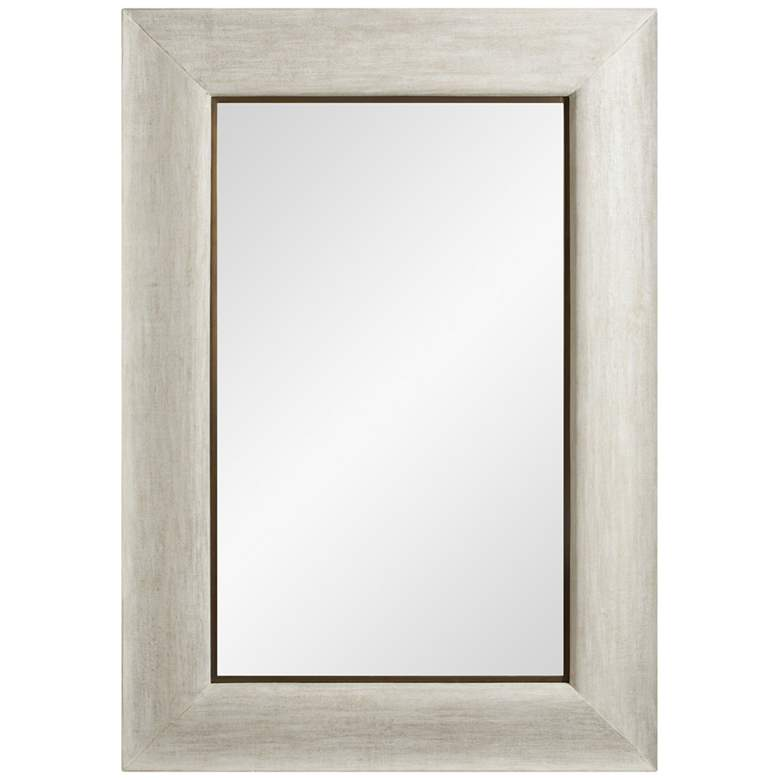 "Toile Linen Glazed 36 1/2"" x 52 1/2"" Wall Mirror"