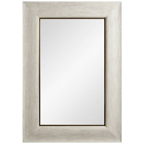 "Toile Linen Glazed 36 1/2"" x 52 1/2"" Wall Mirror"