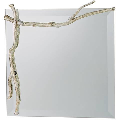 """Twig Silver Leaf 17"""" Square Wall Mirror"""