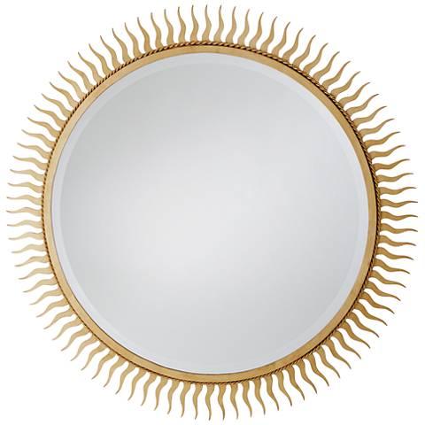 "Eclipse Gold Leaf 40"" Oversized Sunburst Wall Mirror"