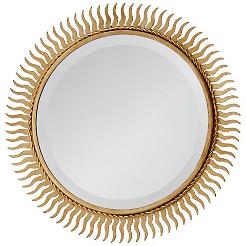 "Eclipse Gold Leaf 13"" Sunburst Wall Mirror"