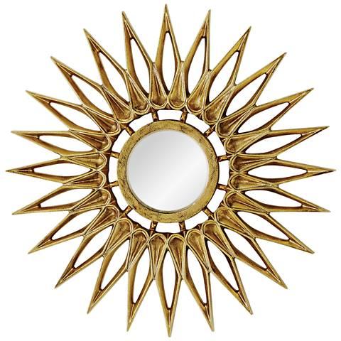 "Dahlia Brass 24"" Sunburst Wall Mirror"