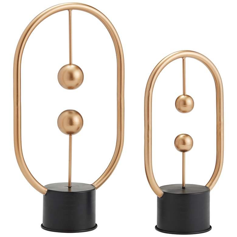 "Allyn 18 1/2"" High Geometric Modern Table Sculptures"