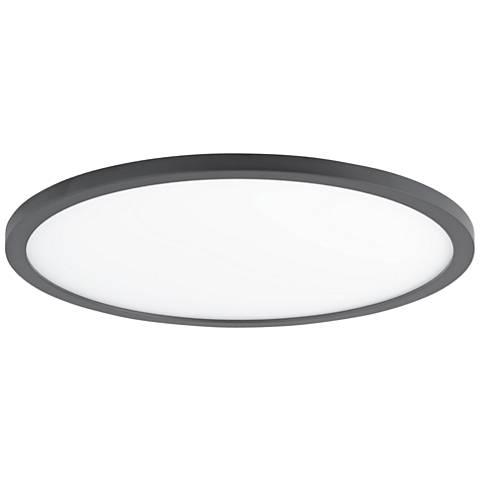 "Maxim Wafer 15"" Wide Bronze 3000K LED Round Ceiling Light"