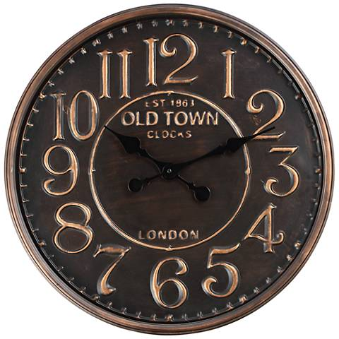 Est 1863 Old Town Round Wall Clock