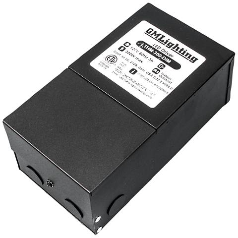 """Fair 4.1"""" Wide Black 24VDC 300W LED Dimmable Power Supply"""