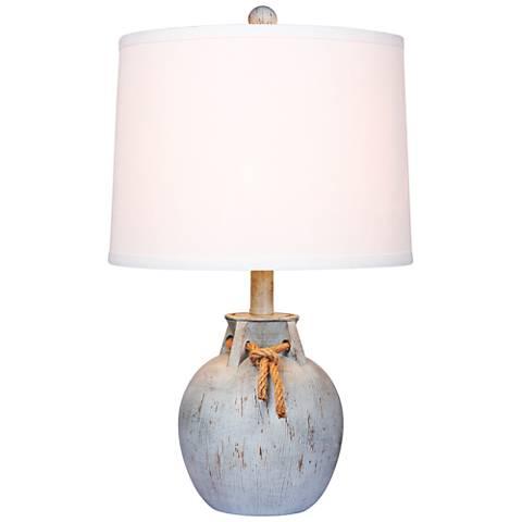 Layla Antique Blue Jug Accent Table Lamp