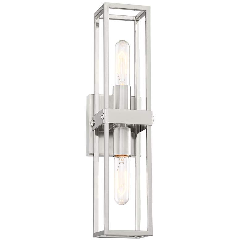 "Fabrian 18 3/4"" High Brushed Nickel 2-Light Wall Sconce"