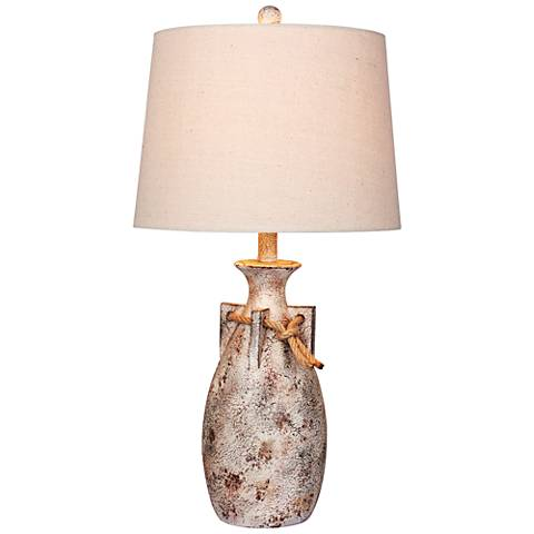 Layla Antique White Jug Table Lamp