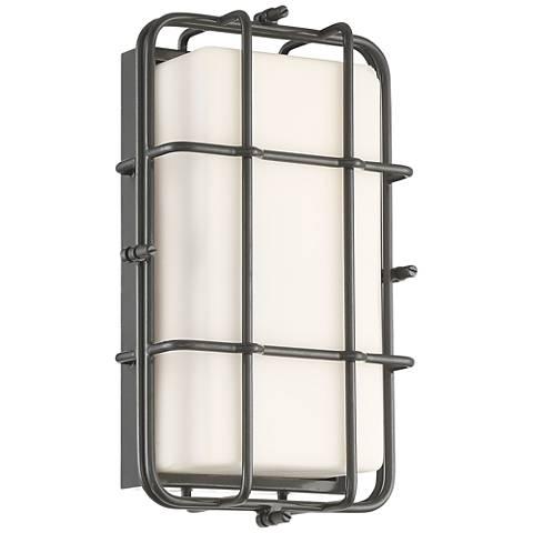"Possini Euro Kendal 12"" High Grey LED Outdoor Wall Light"