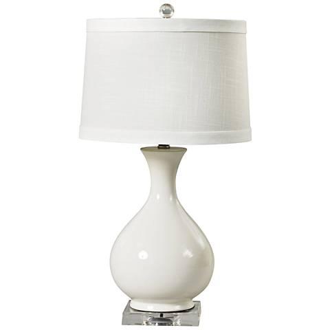 Gianna White Ceramic Smooth Vase Table Lamp
