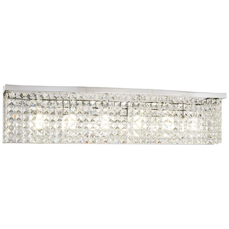 """Concentus 33"""" Wide Chrome and Crystal Bath Light"""
