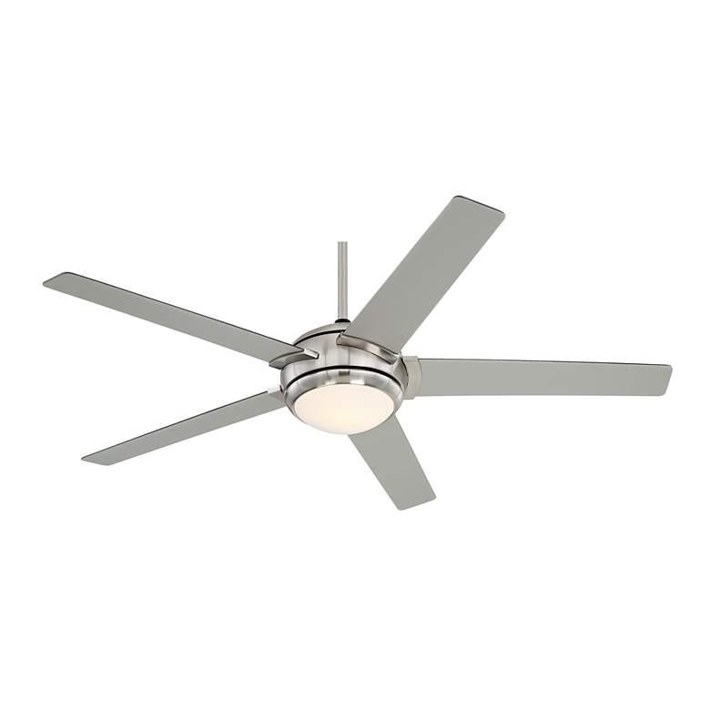 """52"""" Casa Probe III Brushed Nickel LED Ceiling Fan"""