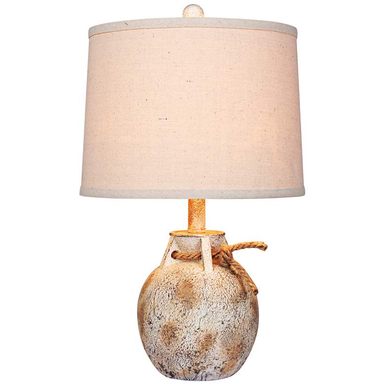 Layla Antique White Jug Accent Table Lamp