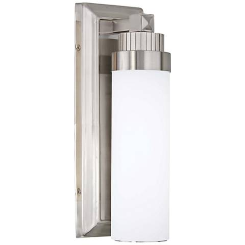 """Laia 13"""" High Brushed Nickel LED Wall Sconce"""