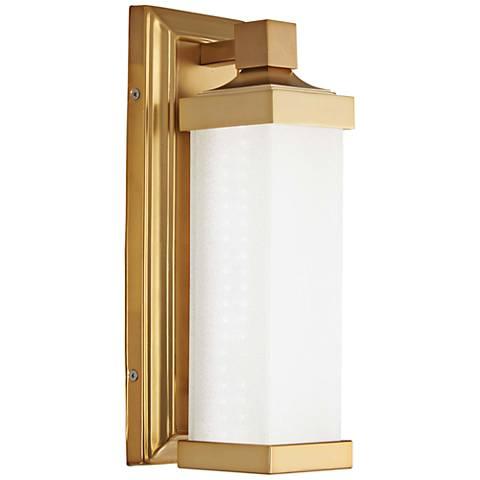 "Kella 13"" High Liberty Gold LED Wall Sconce"