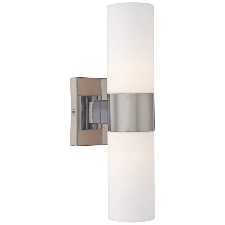 """Andres 13 1/2"""" High Brushed Nickel 2-Light Wall Sconce"""