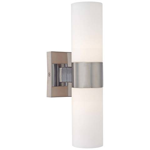 "Andres 13 1/2"" High Brushed Nickel 2-Light Wall Sconce"