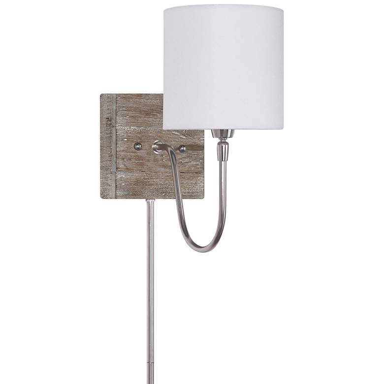 Quinn Polished Nickel Bent Arm Plug-In Wall Lamp