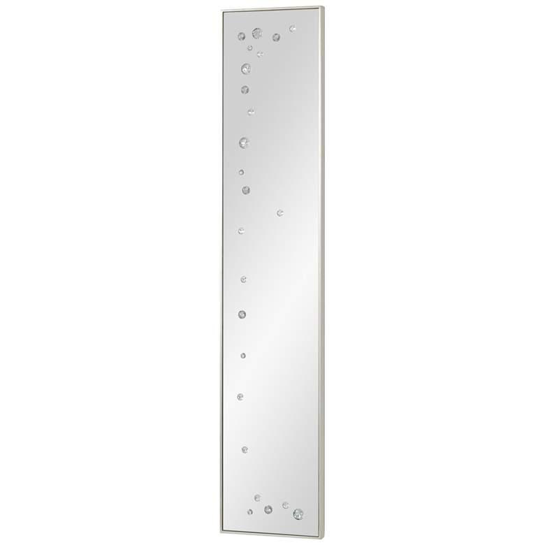 """Galaxy Ambered Silver Leaf 10"""" x 50"""" Panel Wall Mirror"""