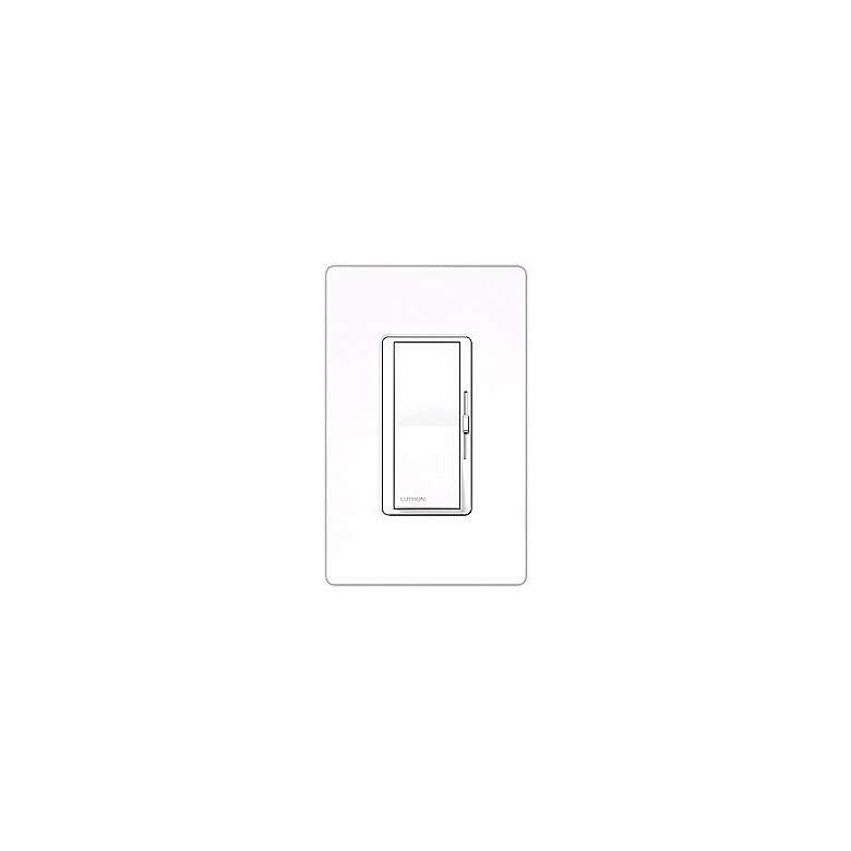 Lutron Diva Gloss White Electronic Single Pole Preset Dimmer