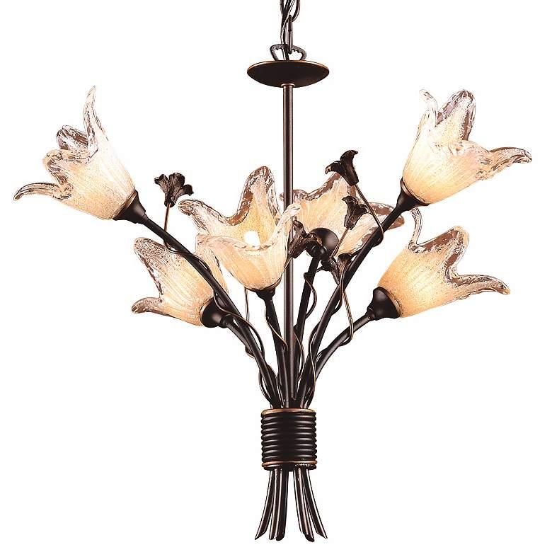 "Fioritura Collection 22"" Wide 6-Light Tulip Glass Chandelier"