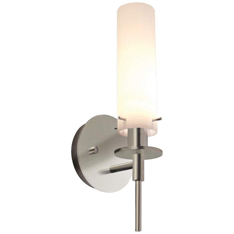 """Sonneman Candle 14 1/2"""" High Satin Nickel Wall Sconce"""