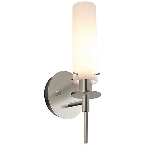 "Sonneman Candle 14 1/2"" High Satin Nickel Wall Sconce"