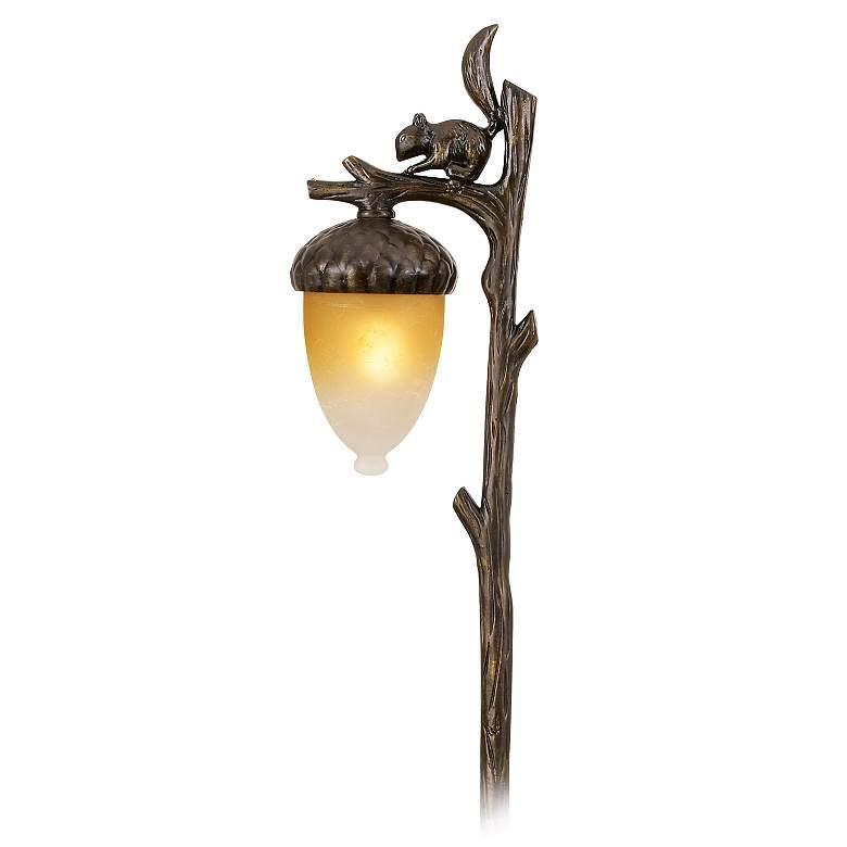 "Hinkley Squirrel and Acorn 22"" High Bronze Landscape Light"