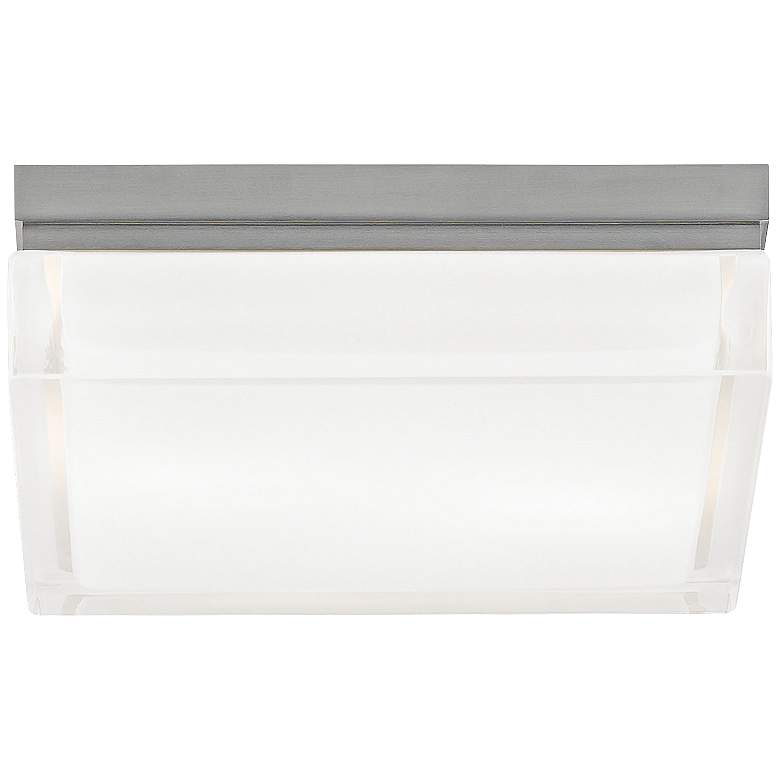 "Tech Lighting Boxie 9"" Wide Square Frost Glass Ceiling Light"