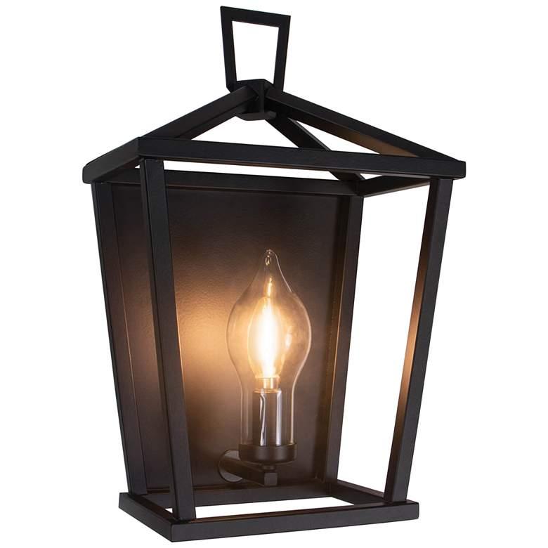 "Regina Andrew Hampton 17 1/2"" High Black Outdoor Wall Light"